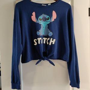 Disney Stitch Cropped Sweatshirt